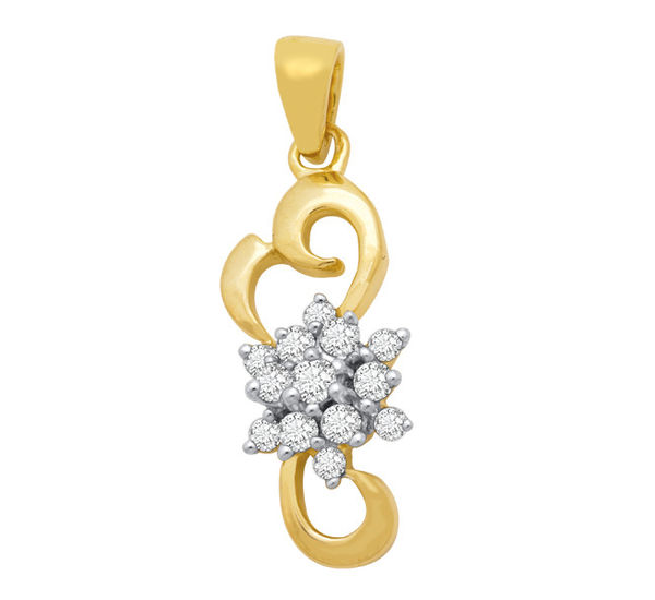 Diamond Pendant by Manglam Jewellers